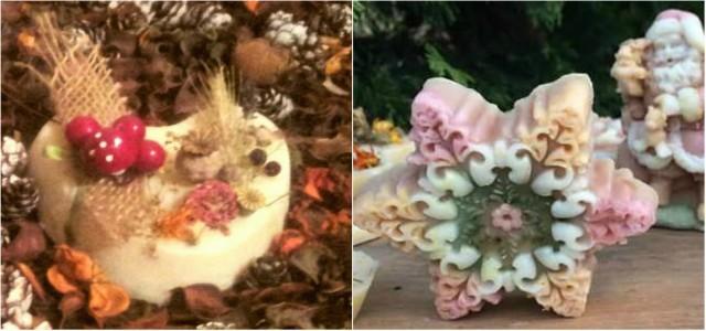 Săpunuri cu arome de iarnă și efecte terapeutice